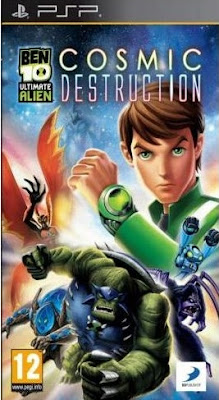 Ben 10 Ultimate Alien Cosmic Destruction PSP Game Cover Photo