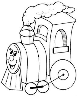 t1 Desenhos de Trenzinho para Imprimir