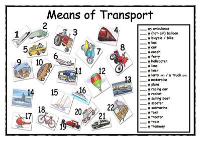 ... Means Of Transportation Worksheet. on excel worksheet tabs definition