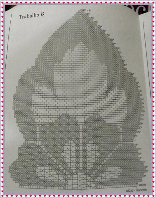 Tapete de croch passadeira caminho de mesa em croch amor - Tapetes para mesa ...