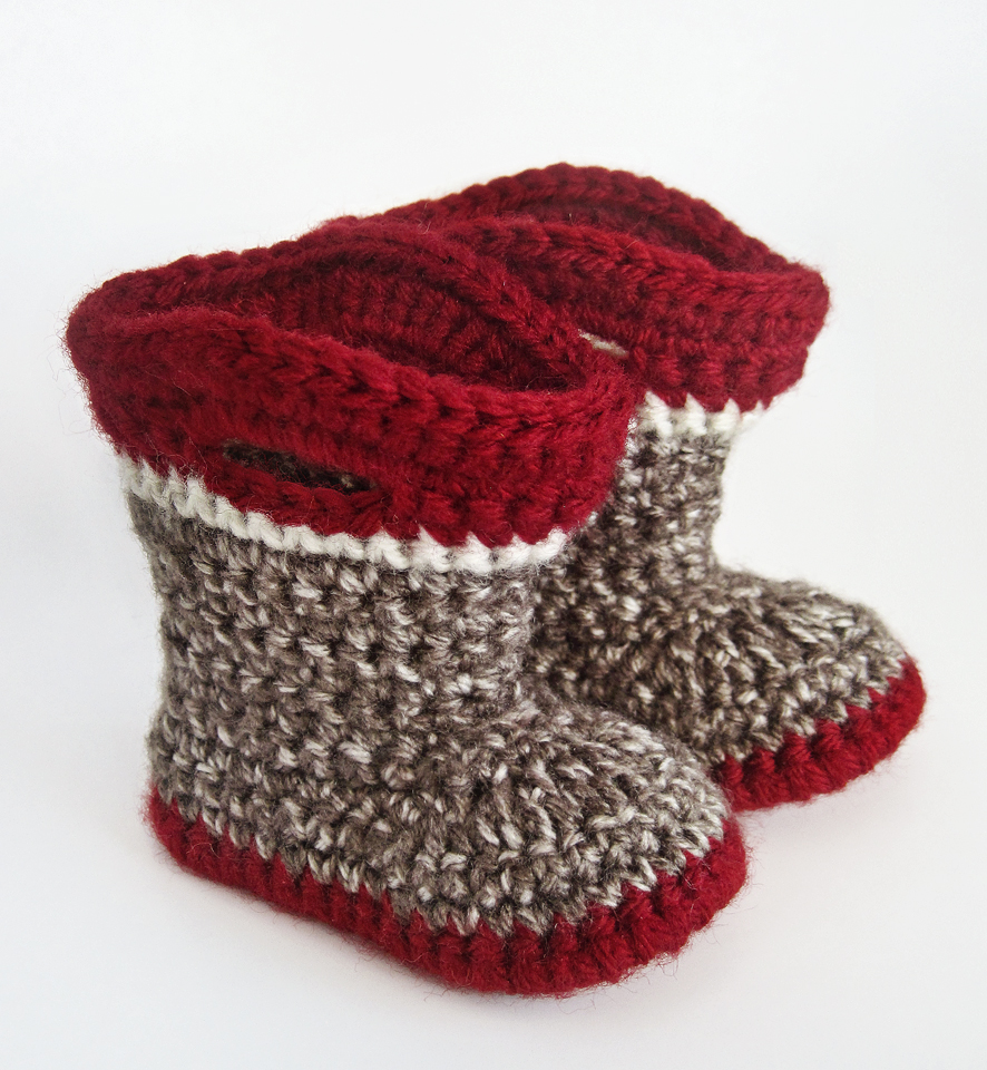 Knitting Pattern For Sock Monkey Booties : Seriously Daisies: Sock Monkey Cuteness
