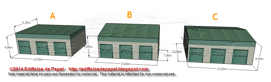 Logistic Warehouse paper model