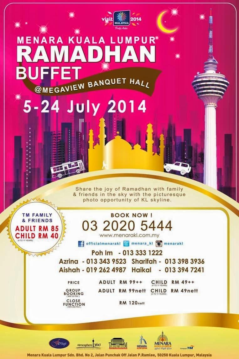 Ramadhan Buffet at Megaview Banquet Hall, Menara Kuala Lumpur