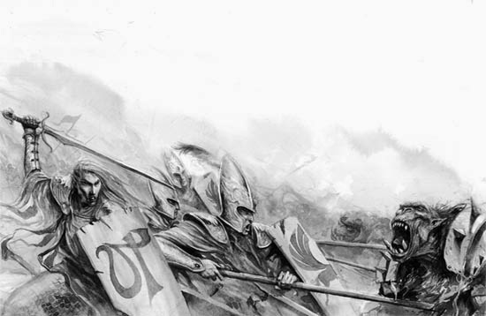 [Warhammer Fantasy Battle] Images diverses - Page 2 HE%2B-%2BFighting%2Bthe%2BOrcs