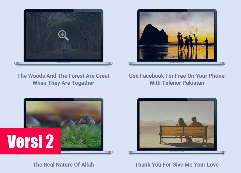 Tampilan Homepage Seperti Layar Laptop dengan JavaScript