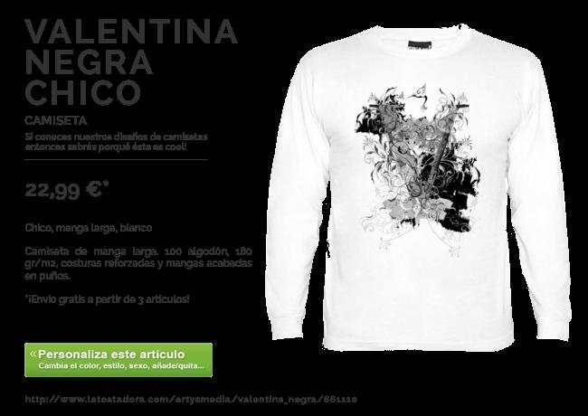 Camiseta VALENTINA NEGRA CHICO