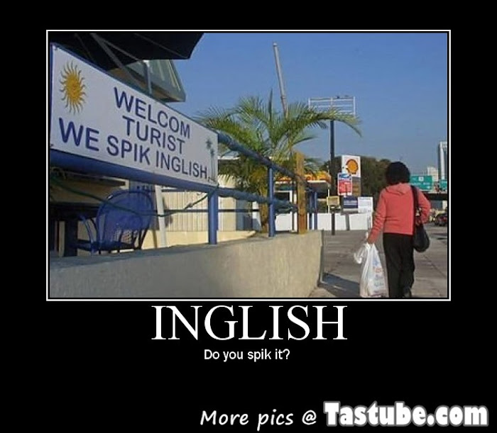 Turist, we-spik-inglish