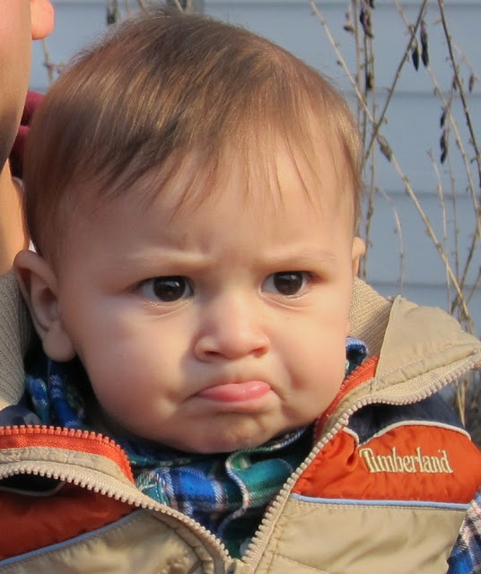 grumpy baby, pouty lip