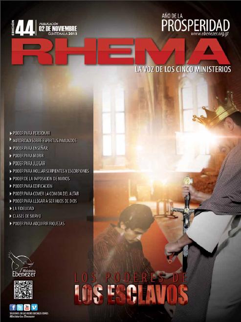 Revista Rhema Noviembre 2013