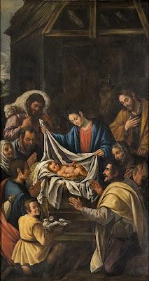 Adoración de los Pastores Juan del Castillo Pintado para el Convento de Monte Sión, Sevilla Museo de Bellas Artes de Sevilla
