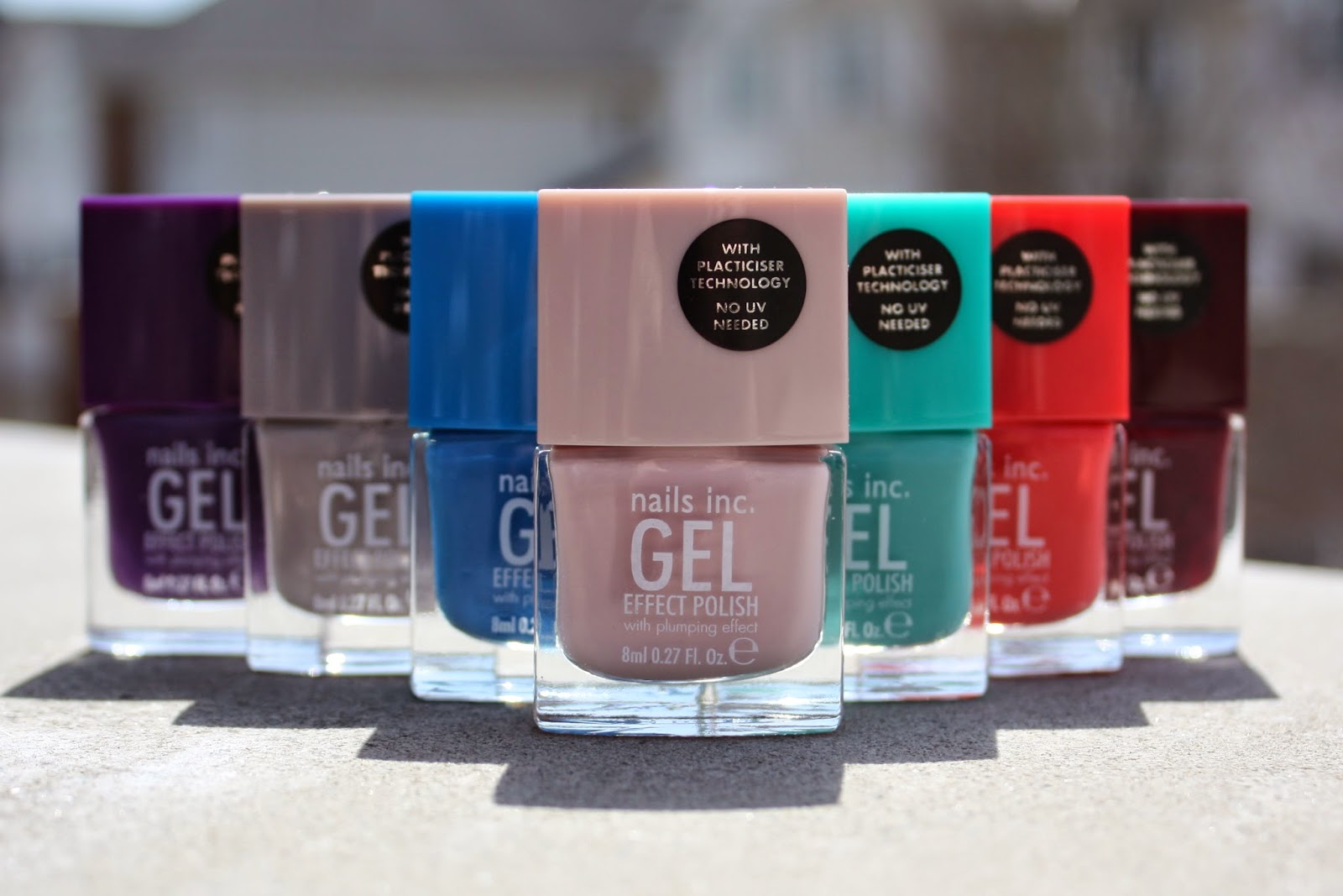 Nails Inc. Gel Effect Polish in Soho Place, Mayfair Lane, Mercer Street, Porchester Square, Bond Street, Kensington Passage, Kensington High Street Review & Swatches