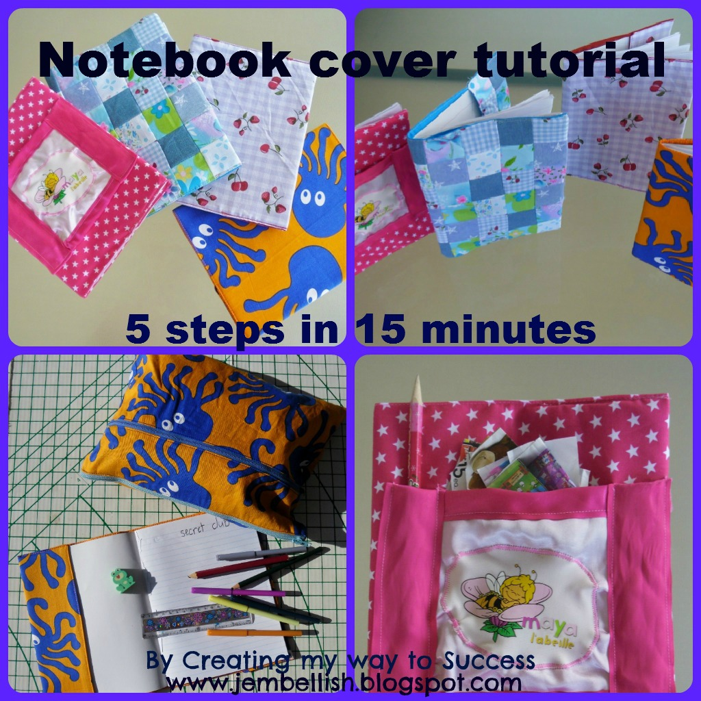 Book Cover Collage Maker : Creating my way to success notebook covers tutorial