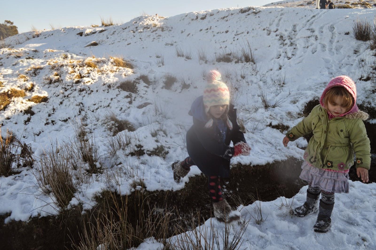 Sledging Preseli Mountains
