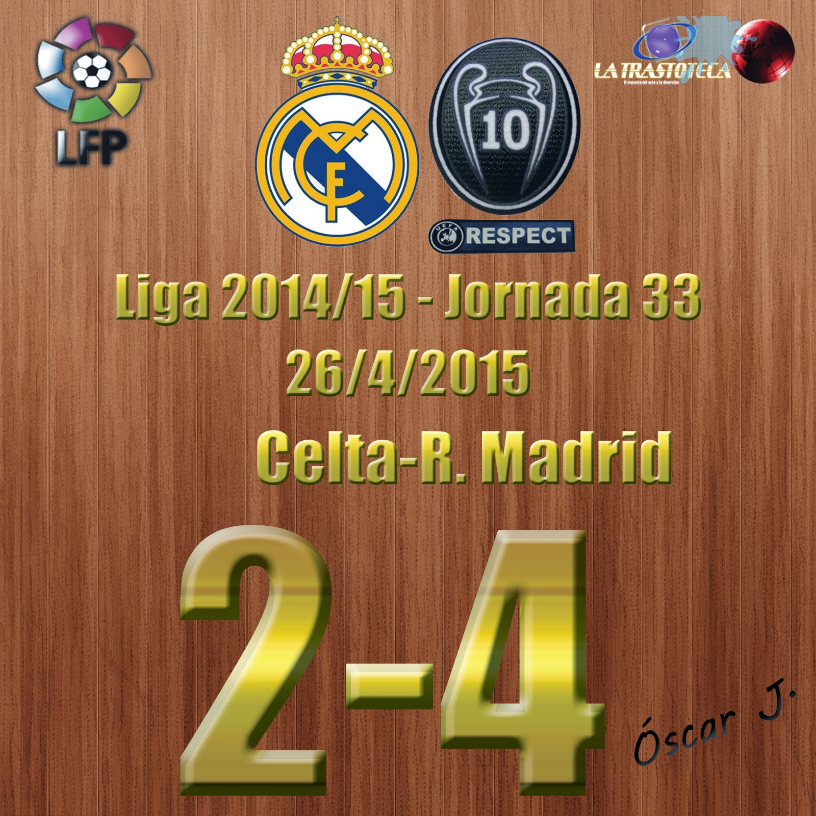 Kroos (1-1) - Celta 2-4 Real Madrid - Liga 2014/15 - Jornada 33 - (26/4/2015)