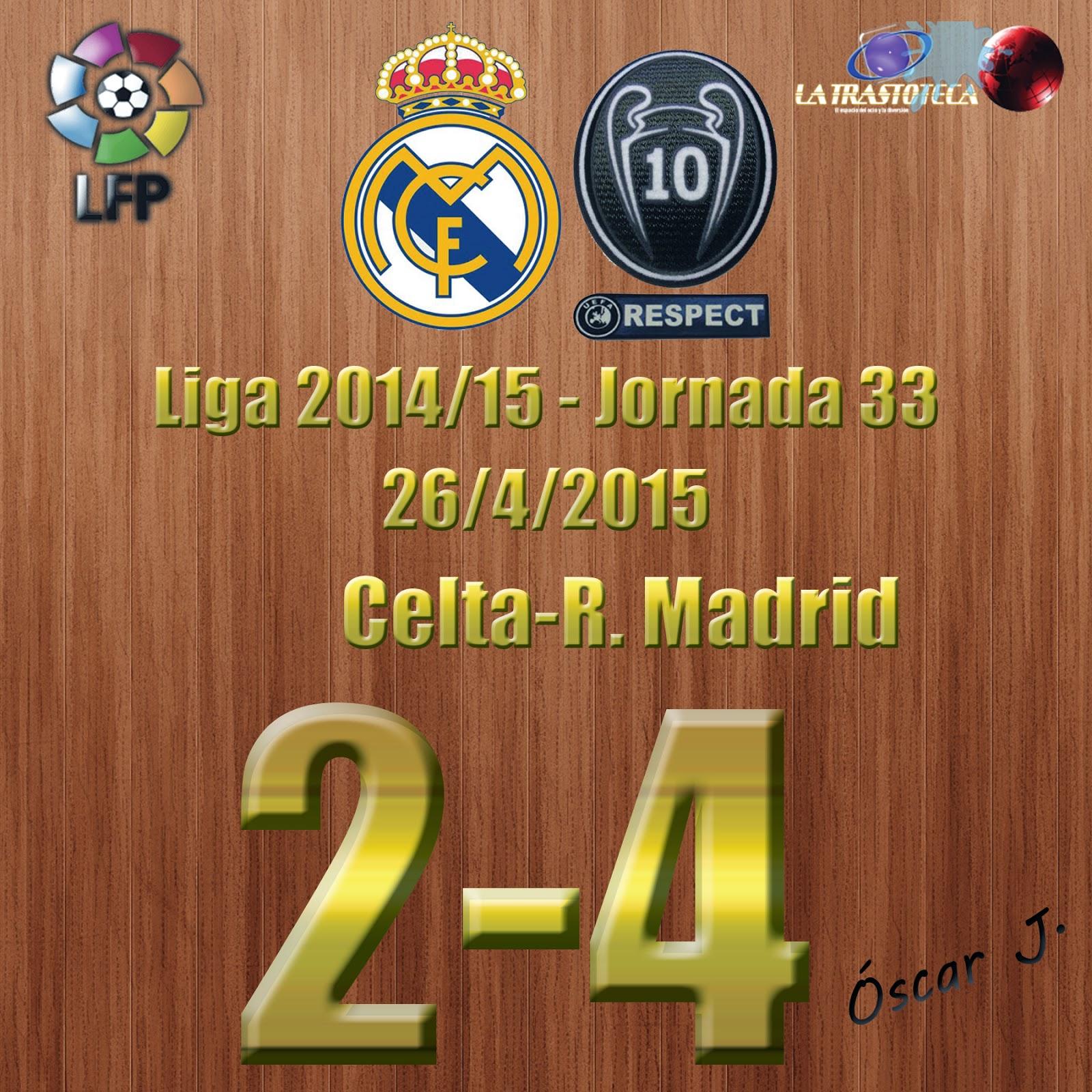 Kroos (1-1) - Celta 2-4 Real Madrid - Liga 2014/15 - Jornada 33 - (26/4/2015)