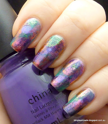 Water color effect nail finish