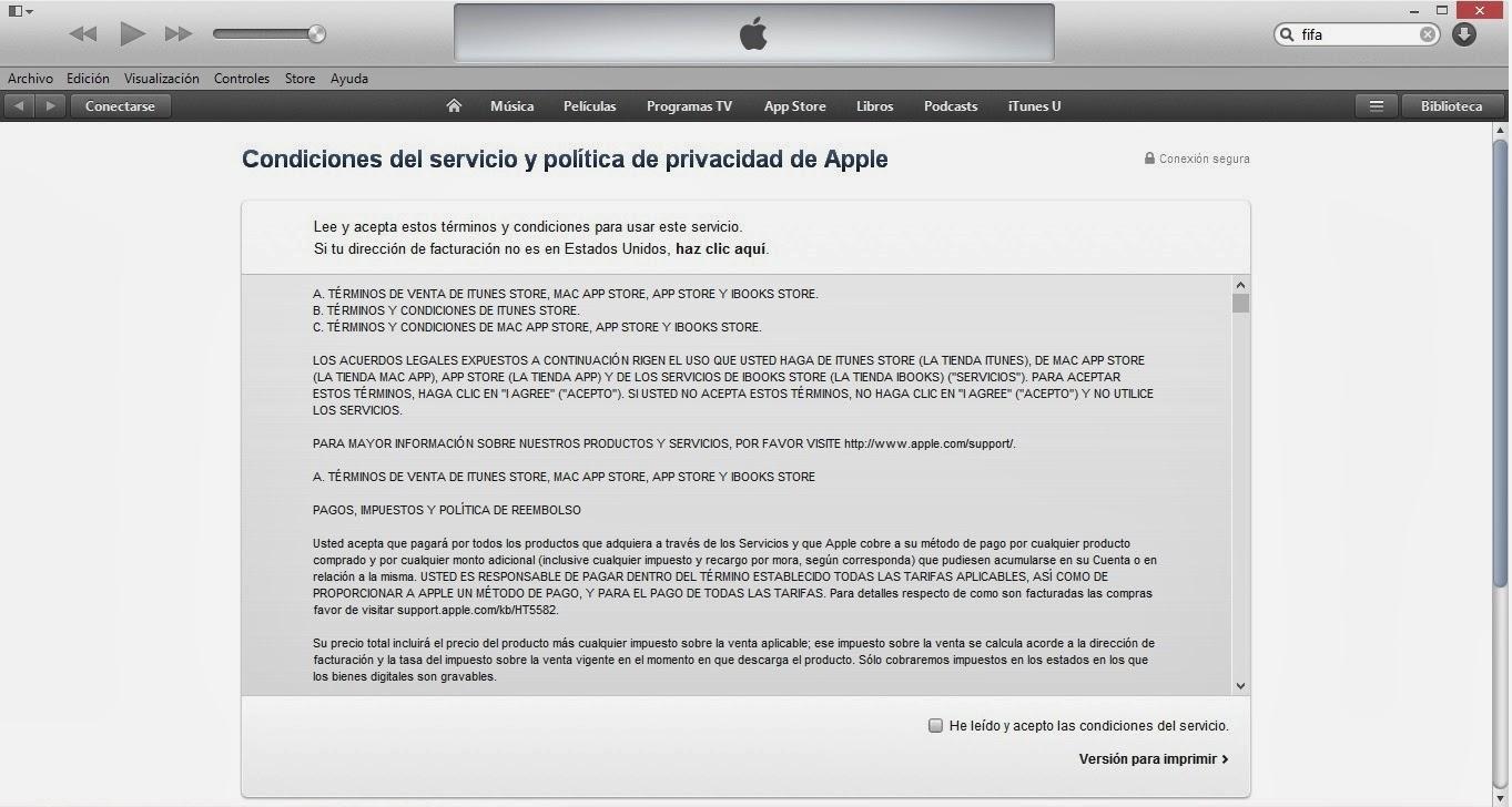 App tronic como crear una cuenta de apple id sin tarjeta for Cuarto y quinto paso