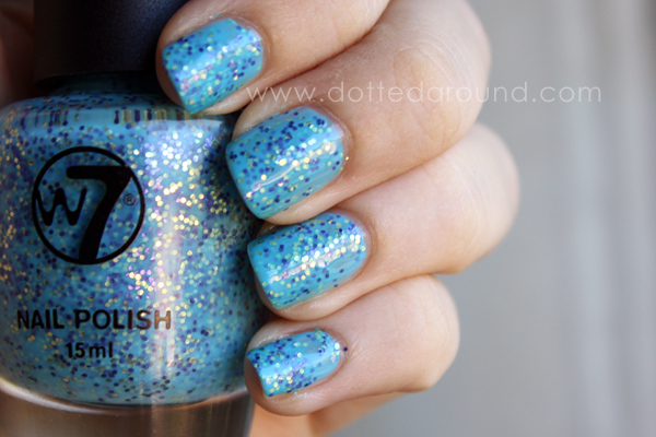 W7 Mosaic polish sprinkles dupe swatches