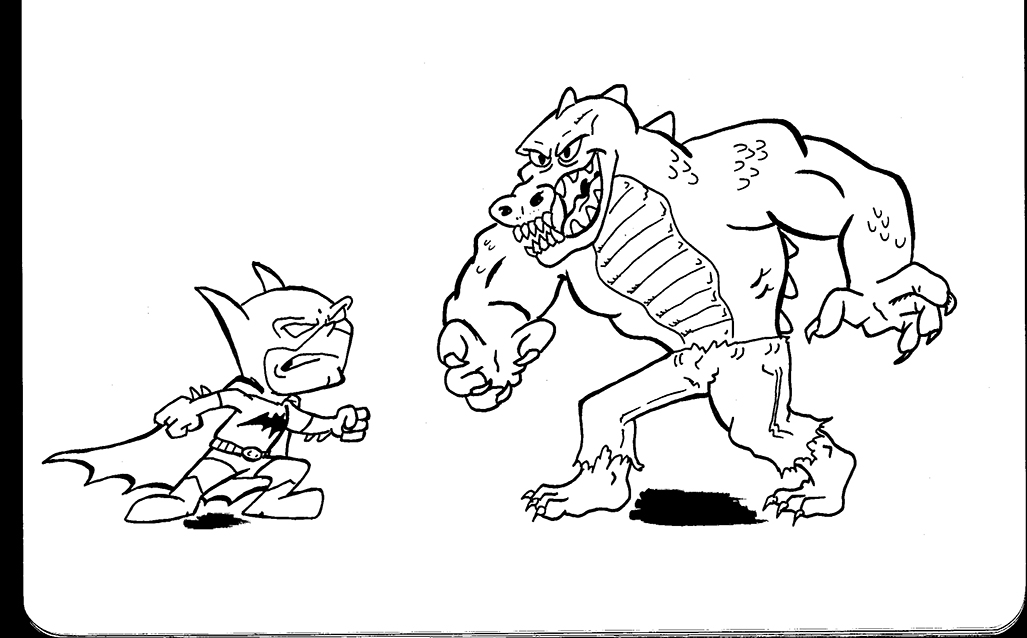 Plummy press batman vs killer croc for Killer croc coloring pages