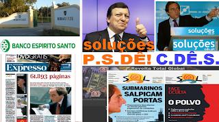 portucale; bes; submarinos; Paulo Portas; Durao Barroso; Soluçoes PSD-CDS; Soluçoes PSD; Soluçoes CDS; Soluçoes b.e.s.; Banco Espírito Santo