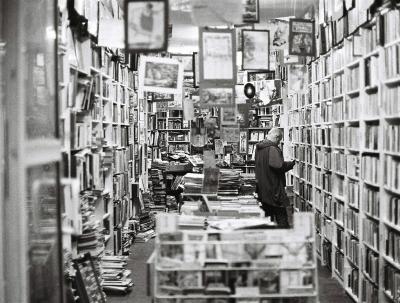 Foto de una vieja librería