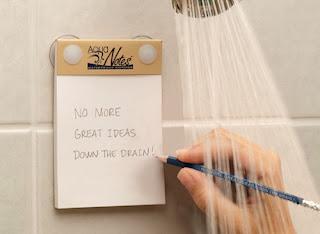 Tomar notas en la ducha - productos innovadores