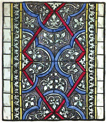 The Textile Blog Meval Stained Glass Pattern Work