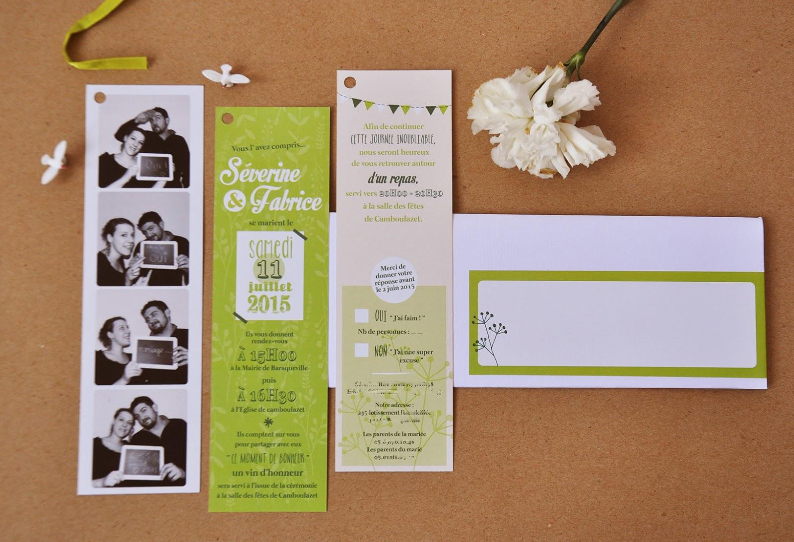 Bien connu Faire part mariage original nature – Votre heureux blog photo de  UI56