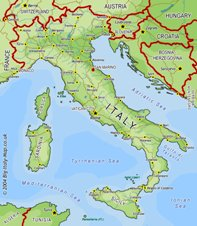 Italy Map Geographic Region Province City