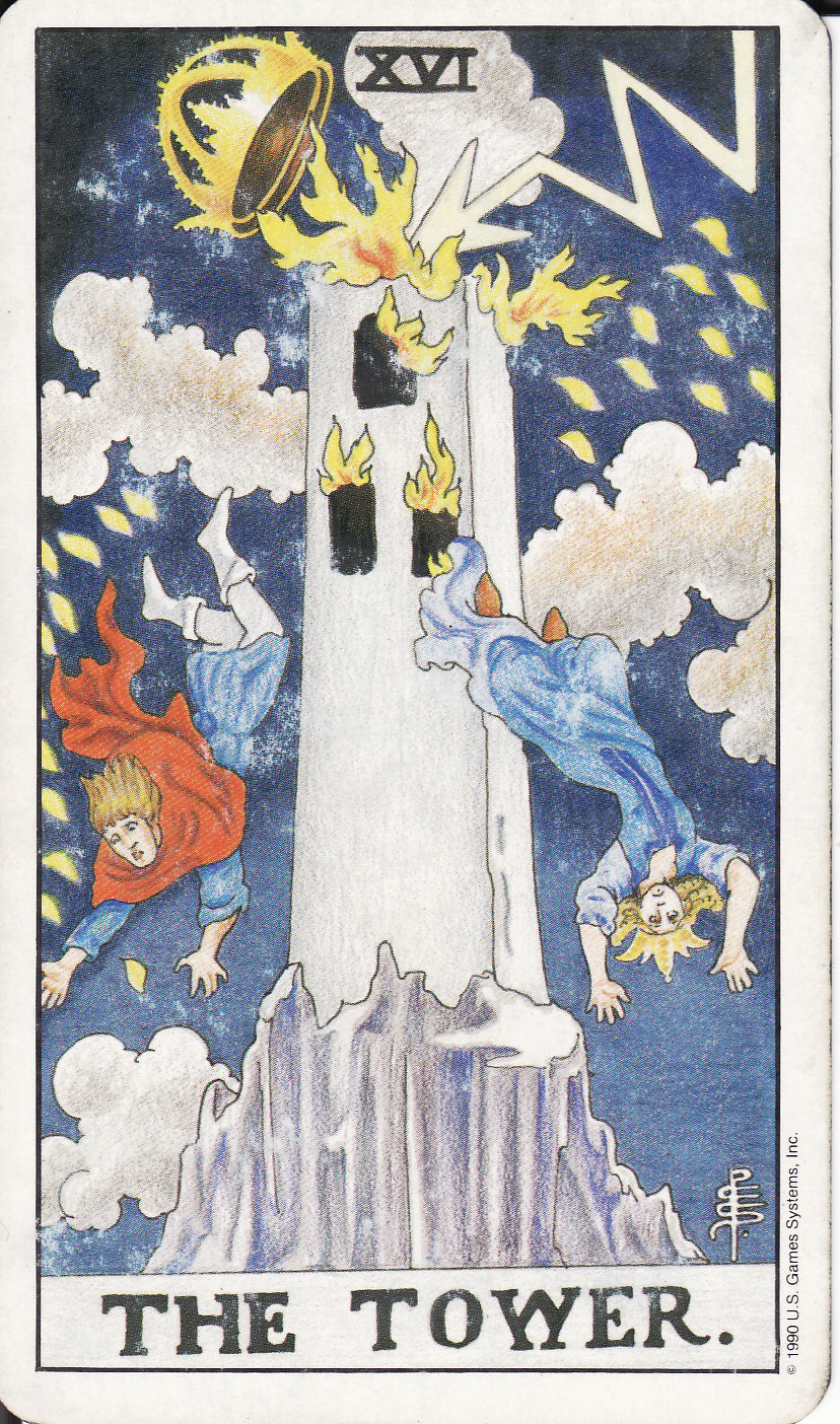 Tarot The Royal Road 16 The Tower Xvi