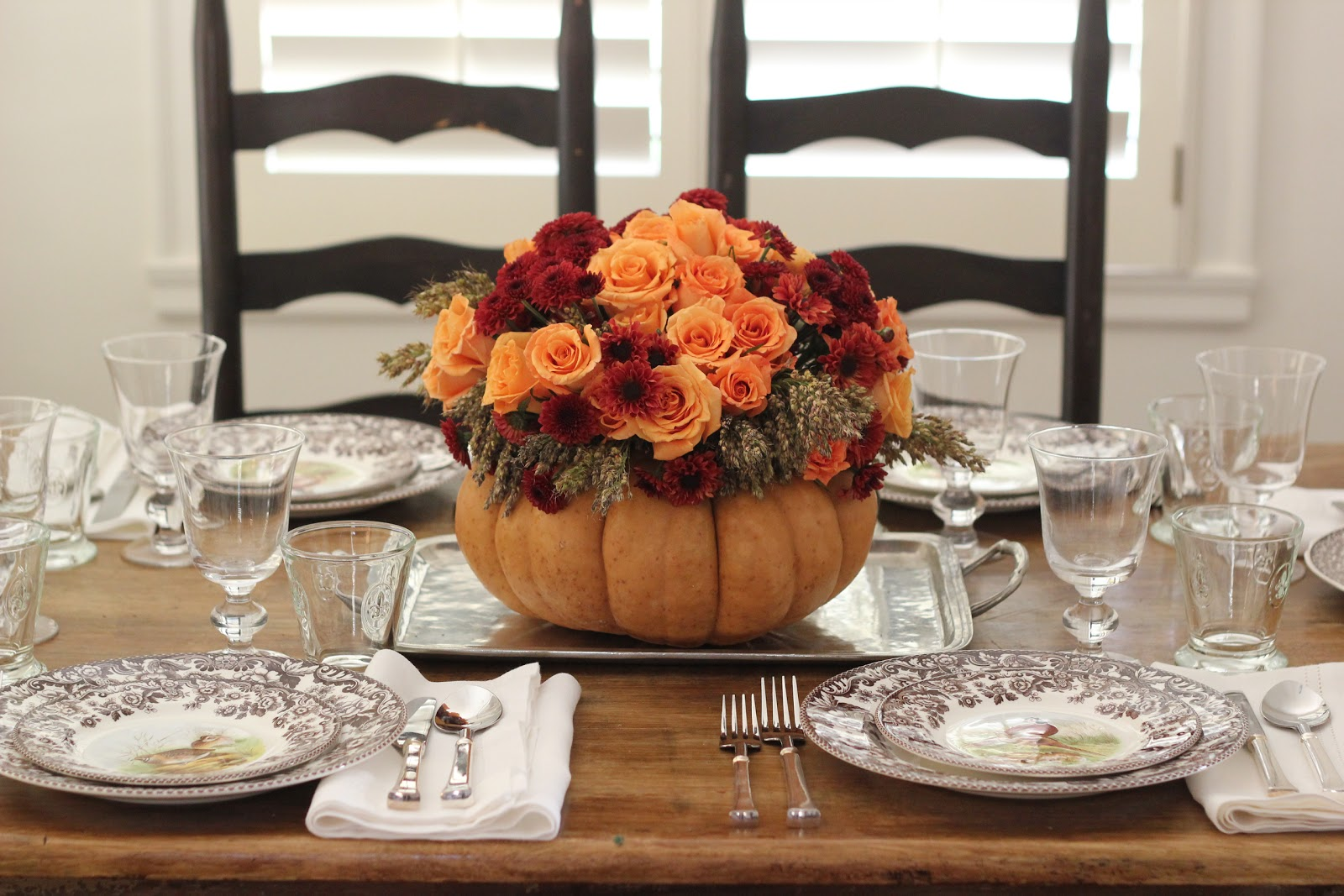Jenny steffens hobick thanksgiving table setting diy for Elegant table setting for thanksgiving