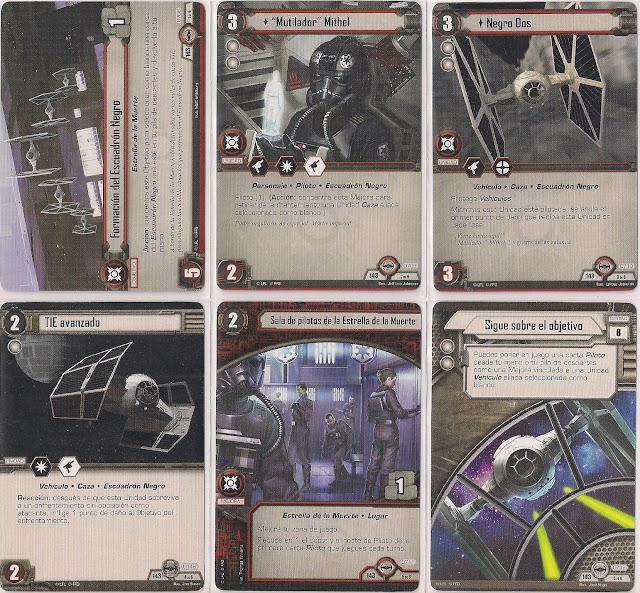 Expansión Star Wars LCG: Ciclo Escuadrón Pícaro - Preparados para despegar Formación del Escuadrón Negro