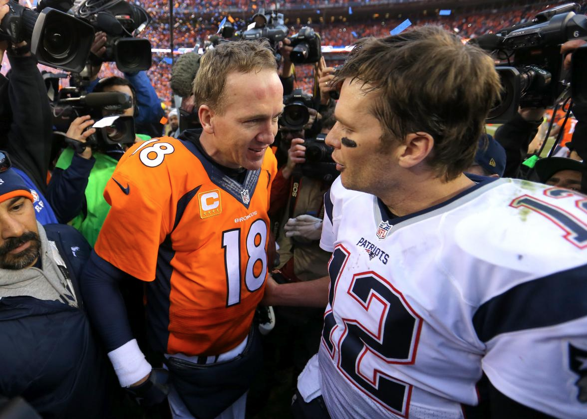 peyton manning vs tom brady essay Tom brady and peyton manning can do a lot on a football field, but most of the time, they can't win a head-to-head battle unless they have the better.