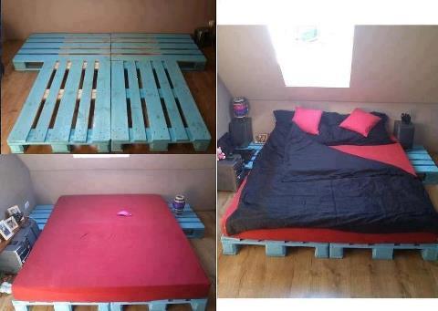 Mi rinc n de sue os cama tatami con palets for Base de cama hecha con tarimas