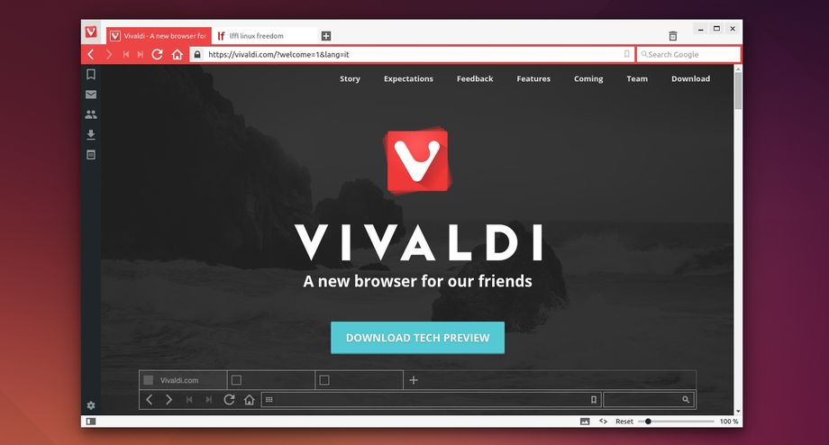 Vivaldi Browser in Ubuntu Linux