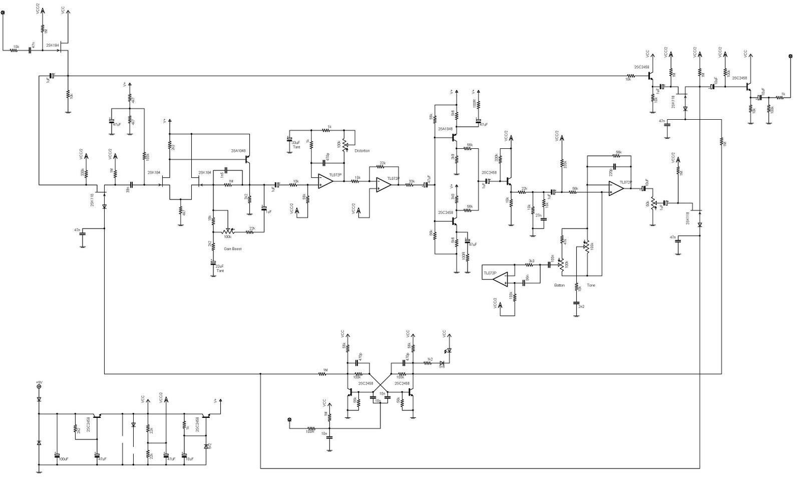 Tuesday August 16 2011 Dual Ne5532 Subwoofer Processing Circuit Low Pass Filter Board Roland Boss Hd2 Mega Distortion Schematic