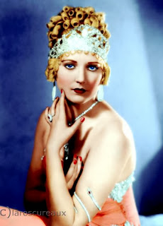 I hope you'll visit Claroscureaux to see his latest colorizations of Thelma Todd