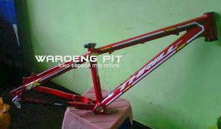 Jual frame sepeda gunung thrill agent 2014 murah mtb merah