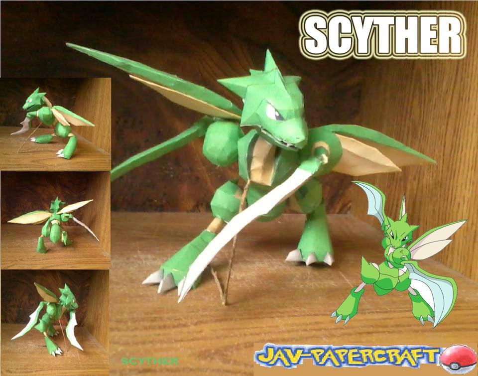 Scyther Paper Model