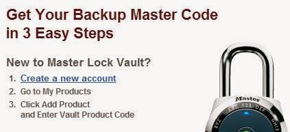 masterlock retrieve passcode instructions