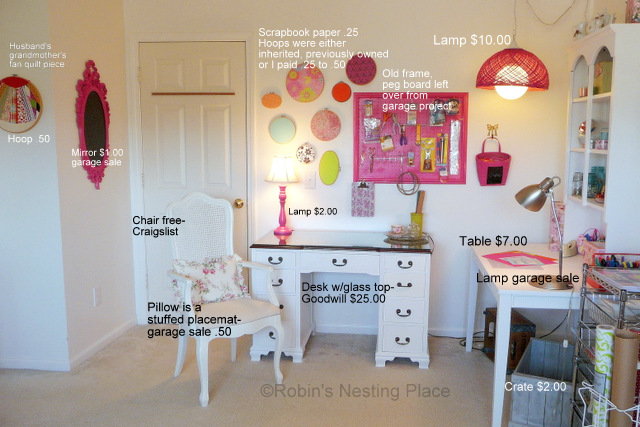 Robins Nesting Place Craft Room On A Budget
