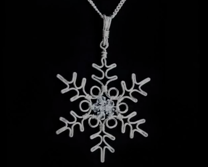 Amazing Wire Wrapped Snowflake Pendant Tutorial ~ The Beading ...