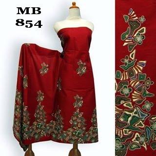 motif kain batik batu merah