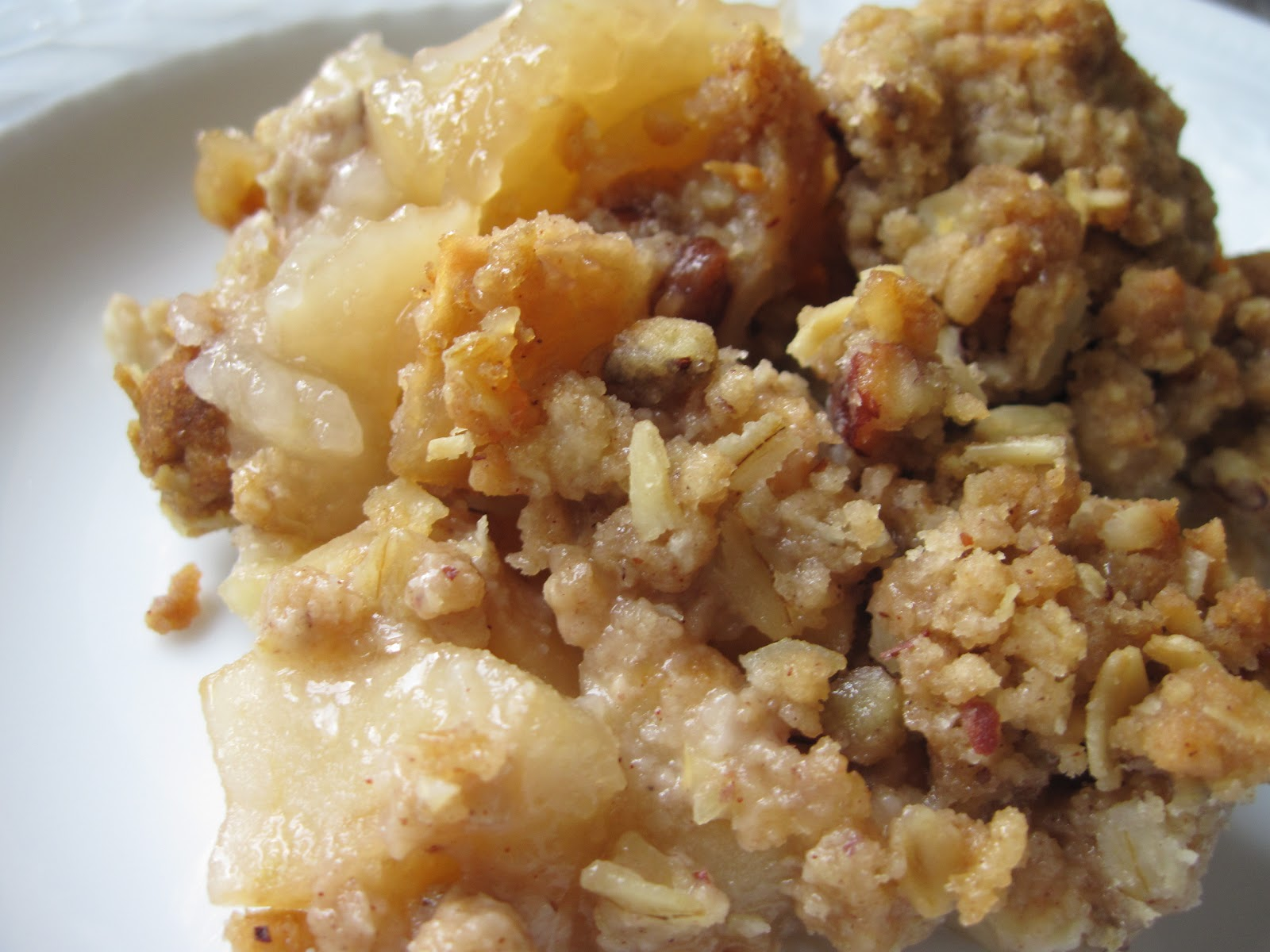 Apple pear crumble a recipe yankee kitchen ninja for Apple pear recipes easy