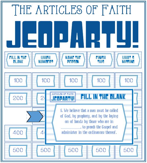 Articles of Faith Jeoparty