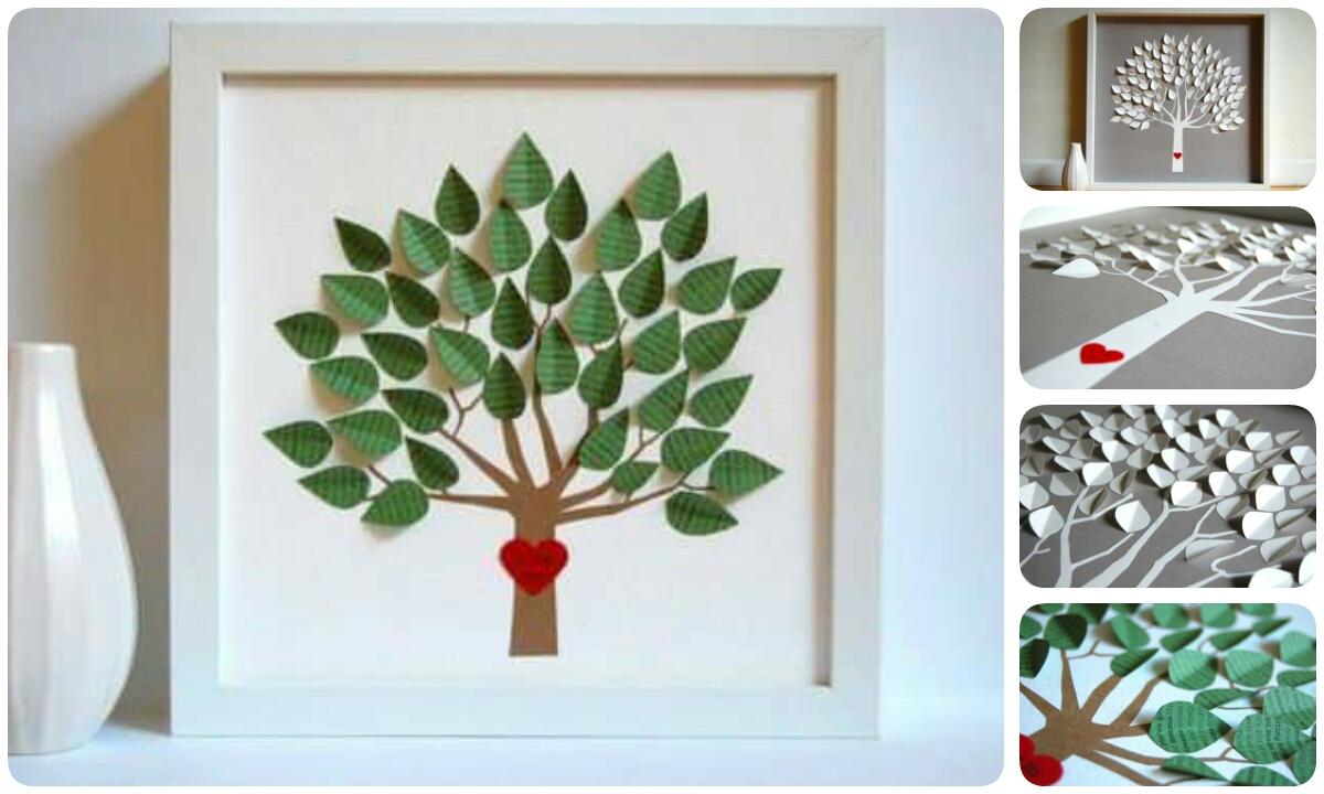 Как сделать объемное дерево из бумаги своими руками на стену