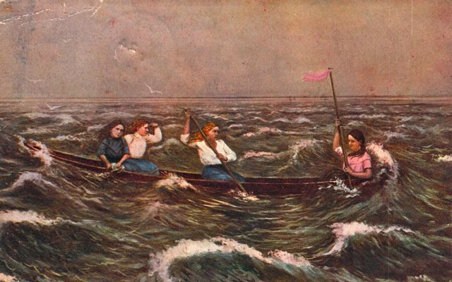 on Lake Erie: How a painter immortalized the story of four brave girls