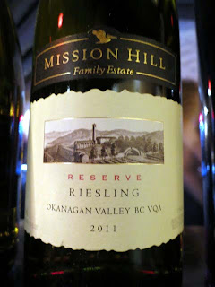 2011 Mission Hill Riesling Reserve - NWAC13 Platinum Medal Winner