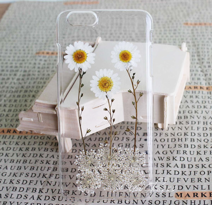 pressed flower iphone case