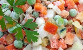 Contenido nutricional alimentos congelados